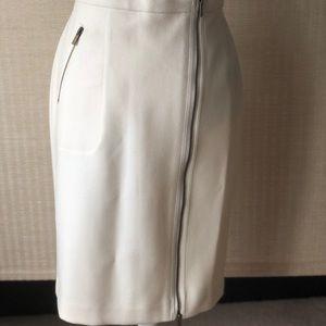 JCREW White Wool Pencil Skirt